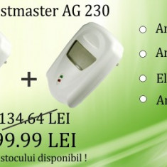 2 x Pest Repeller - aparat cu unde electromagnetice anti gandaci, anti rozatoare Pestmaster AG230 -