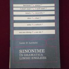 Ghid de conversatie - Leon D. Levitchi - Sinonime in gramatica limbii engleze - 493681