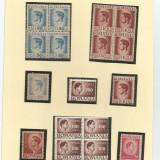 Timbre Romania, An: 1945, Regi, Nestampilat - LL timbre minicolectie Romania 1945, nestampilat . (2)