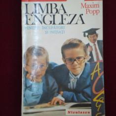 Maxim Popp - Limba engleza pentru incepatori si initiati - 453484 - Ghid de conversatie niculescu