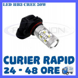 BEC AUTO LED LEDURI HB3 CREE 50W LUMINI DE ZI DRL FAZA LUNGA (FLASH) PROIECTOARE - Led auto ZDM, Universal