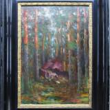 Prin padure - semnat H.Liesegang - Pictor strain, Peisaje, Ulei, Altul