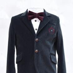 Sacou catifea Iridor baieti gri (Culoare: gri, Imbracaminte pentru varsta: 5 ani - 110 cm)