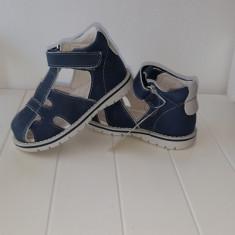 Sandale copii - Sandale piele baieti Andromeda (Culoare: alb/ bleumarin, Marime incaltaminte: 21)