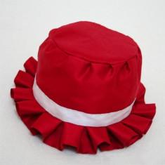 Palarioara botez Scarlet (Circumferinta cap: la comanda, Culoare: rosu)