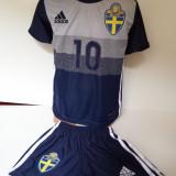 Echipamente sportive copii Suedia -Ibrahimovic model nou 2016 - Set echipament fotbal, Marime: Alta