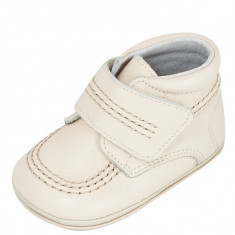 Ghete copii - Ghetute crem din piele 17 (10 cm) Leon Shoes