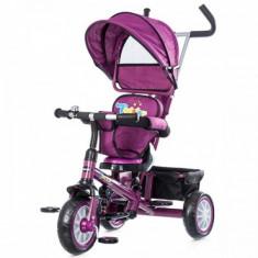 Tricicleta copii - Tricicleta cu copertina si sezut reversibil Twister Purple Chipolino