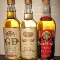 3 sticle whisky, 2 sticle cl 70 gr 40- ani 80 1 sticla cl 75 gr 40 ani 60