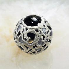Bratara argint - Pandantiv pentru bratara tip Pandora, model Inimi, cod 296