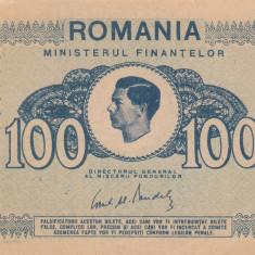 ROMANIA 100 lei 1945 XF+++!!!
