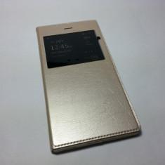 Husa flip cover Gama Lux iphone 6 Plus / 6S Plus / Gold - Husa Telefon Apple, Auriu, Piele Ecologica