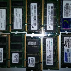 LOT 10 BUCATI Memorie Laptop Kingston Sodimm DDR1 256 MB 266 Mhz - Memorie RAM laptop Samsung, 333 mhz