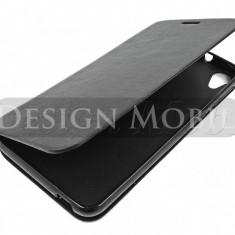HUSA HTC DESIRE 820 FLIP TIP CARTE SUPER OFERTA - Husa Telefon HTC, Negru, Piele Ecologica, Cu clapeta, Toc