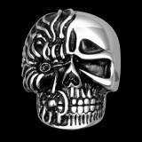 Inel inox barbati skull rings craniu vintage vampire punk rock gothic biker