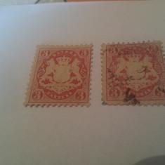 Germania/bayern 1870-75/ 3 kr./ 2 v.mixte, Stampilat