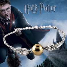 Bratara Harry Potter - Golden Snitch Angel Wing - Deathly Hallows - Bratara Fashion
