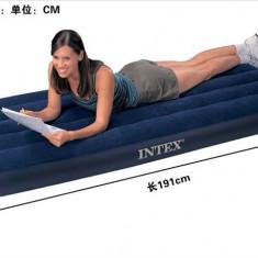 Saltea gonflabila Intex 191x76x22 Camping, Mare Dormit Pentru Cort 1 Persoana
