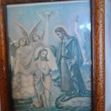 LITOGRAFIE BOTEZUL LUI IISUS