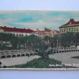 Satu Mare, Piata Bratianu - Carte Postala Maramures dupa 1918, Circulata, Printata