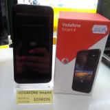 Telefon mobil Vodafone, Negru, Nu se aplica, Neblocat, Fara procesor, Nu se aplica - VODAFONE SMART 4 (LEF)