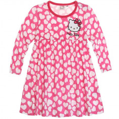 Rochita Hello Kitty roz cu inimioare