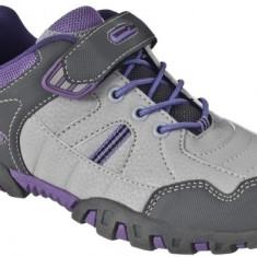 Pantofi fete Trespass Mitsy Viola - Adidasi copii Trespass, Marime: 28, 29, 31, 32, 33, Culoare: Gri, Piele sintetica