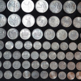 Monede Romania, Argint - LOT - 67 MONEDE ARGINT - ROMANIA - 1, 2, 5, 200, 250, 500..Lei - 665g. - 2.5lei/gr.!