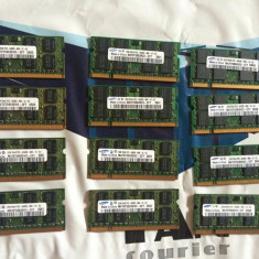 Placute Memorie RAM laptop Hynix 2gb DDR2 Samsung 800Mhz PC2-6400s-666-12-E3