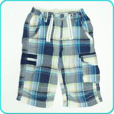 DE FIRMA _ Pantaloni scurti din panza de bumbac, snur, H&M _ 5 - 6 ani | 116, Culoare: Albastru, Baieti