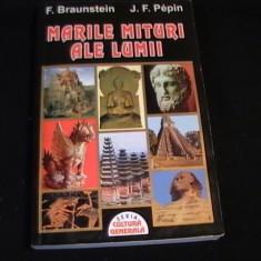 MARILE MITURI ALE LUMII-F. BRUNSTEIN-J. PEPIN-TRAD. CONSTANTIN ZLIBUT-342 PG- - Carte mitologie