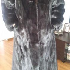 Palton dama - Haina de blana naturala vizon. Produs nou. Oferta unica.