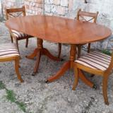 PRET REDUS 15 %.--Masa cu 4 scaune stil Chesterfield, Rosjohn made in England