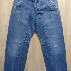 Blugi barbati - Blugi Armani Jeans Eco-Wash Made in Italy; marime 36, vezi dimensiuni; ca noi