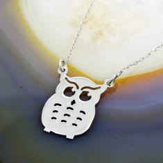 Lantisor argint - Lant de Argint 925, cu pandantiv Bufnita, cod 336