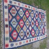 Covor vechi din lana, scoarta olteneasca,  chilim 245/150 cm