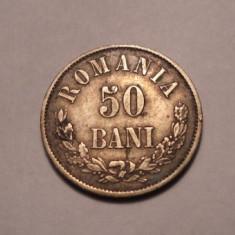 50 bani 1873 Piesa de Colectie Patina - Moneda Romania