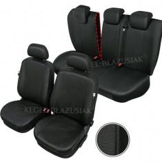 Huse scaune auto imitatie piele Opel Astra III (H) set huse fata + spate - Husa Auto
