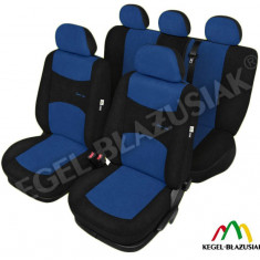 Husa Auto - Set huse scaune auto SportLine Albastru pentru Opel Astra F Astra G Astra H
