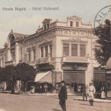 BRAILA, STRADA REGALA, HOTEL BULEVARD, MAGAZINE, TCV, CIRC. MART. 1912 - Carte Postala Muntenia 1904-1918, Braila, Circulata, Printata