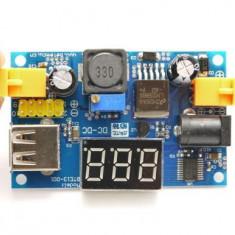 Sursa voltmetru LM2596 ajustabil cu LED display lcd step - down usb 4-40v