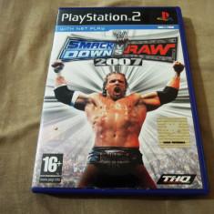 Joc WWE Smack Down vs Raw 2007, PS2, original, alte sute de jocuri! - Jocuri PS2 Thq, Sporturi, 18+, Multiplayer