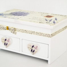 Cutie bijuterii din lemn - Lavender - Produs Nou