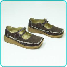 Pantofi dama, Piele intoarsa - Pantofi comozi, usori, FRUMOSI, piele, de calitate, SP CASUAL _ femei | nr. 36