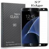 Folie ecran Sticla curbata color Black Samsung Galaxy S7 Edge Livrare Gratuita - Folie de protectie