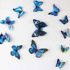 Autocolant Sticker si Magnet - 12 fluturi 3D colorati