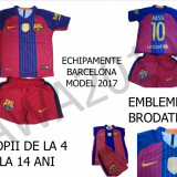 ECHIPAMENTE FOTBAL BARCELONA, MODEL 2017, MARIMI 4-14 ANI, LIVRARE GRATUITA - Set echipament fotbal Nike, Marime: XXL, XL, L, M, S