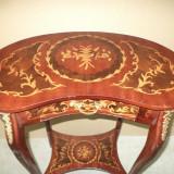 Eleganta masuta franceza cu intarsie si elemente din bronz - Mobilier