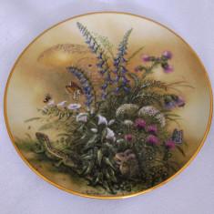 Farfurie - decorativa / colectie - portelan Austria - Lilien - 1990
