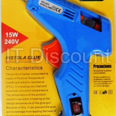 Pistol de lipit cu silicon 15W 7mm CL-138 buton On/Off